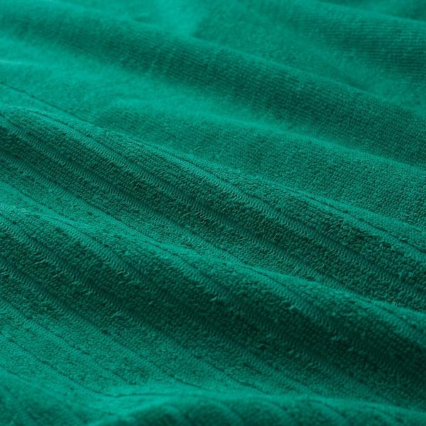 VÅGSJÖN منشفة حمّام, أخضر غامق, 70x140 سم