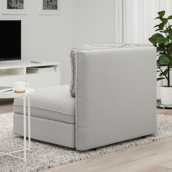 VALLENTUNA Seat module with backrest, Orrsta light grey