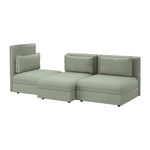 Vallentuna 3 seat sofa hillared green ikea - Fundas de sofa con cheslong ...