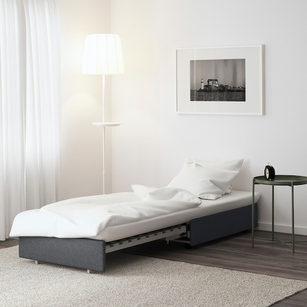 VALLENTUNA sofa-bed module Hillared dark grey 80 cm 100 cm 45 cm 80 cm 200 cm