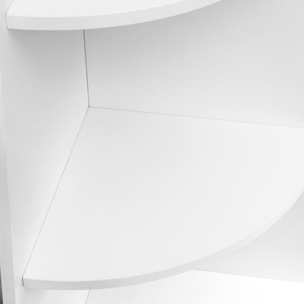 VARBY وحدة رفوف زاوية, أبيض, 53x155 سم