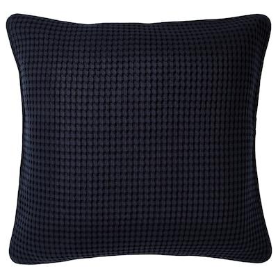 VÅRELD غطاء وسادة, أسود-أزرق, 50x50 سم