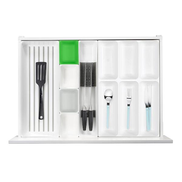 VARIERA Box, green/grey, 10x12 cm