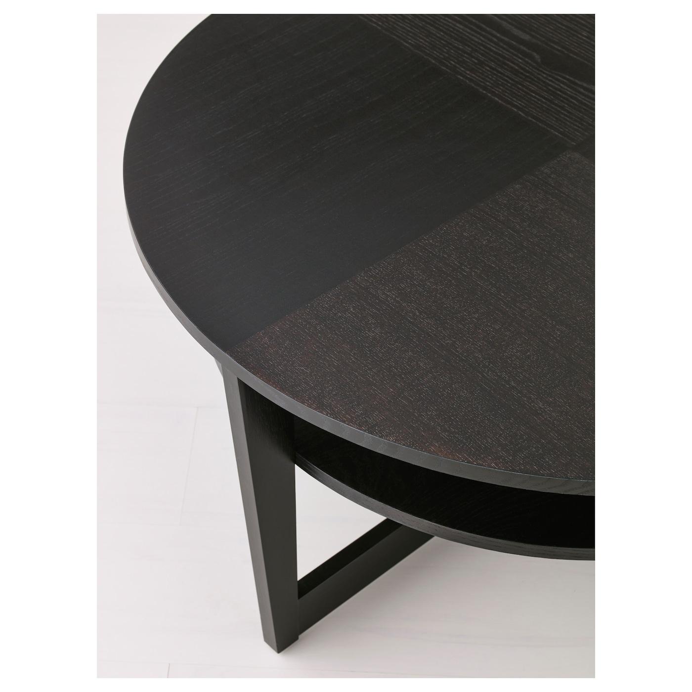Vejmon Coffee Table Black Brown 90 Cm Ikea [ 1400 x 1400 Pixel ]