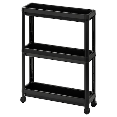 VESKEN Trolley, black, 54x18x71 cm