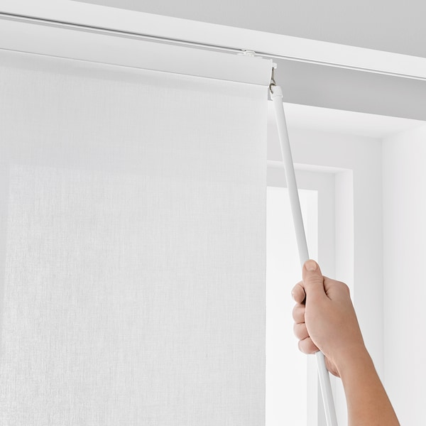 VIDGA Panel curtain holder, white, 60 cm