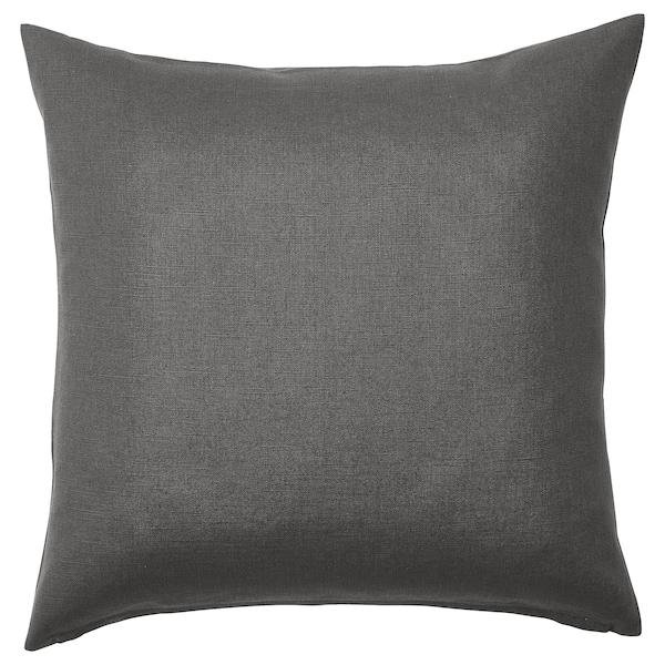 VIGDIS غطاء وسادة, أسود-رمادي, 50x50 سم