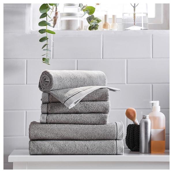 VIKFJÄRD Hand towel, grey, 40x70 cm