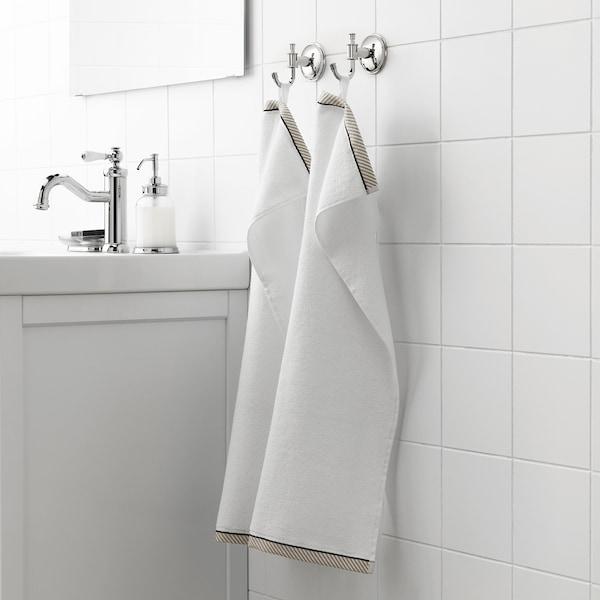 VIKFJÄRD Hand towel, white, 40x70 cm