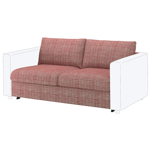 VIMLE cover for 2-seat sofa-bed section Dalstorp multicolour