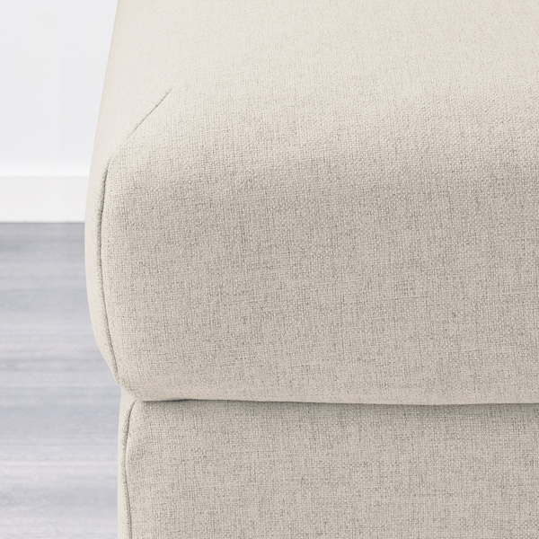 VIMLE Cover for footstool with storage, Gunnared beige