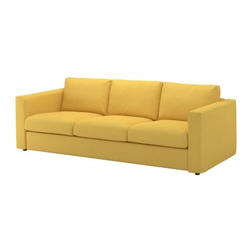 vimle 3 seat sofa orrsta golden yellow ikea. Black Bedroom Furniture Sets. Home Design Ideas