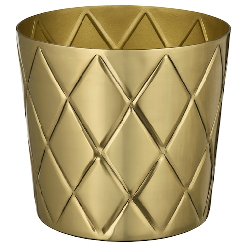 VINDFLÄKT plant pot brass-colour 12 cm 13 cm 12 cm 12 cm