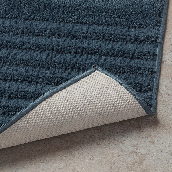 VINNFAR Bath mat, dark blue, 40x60 cm