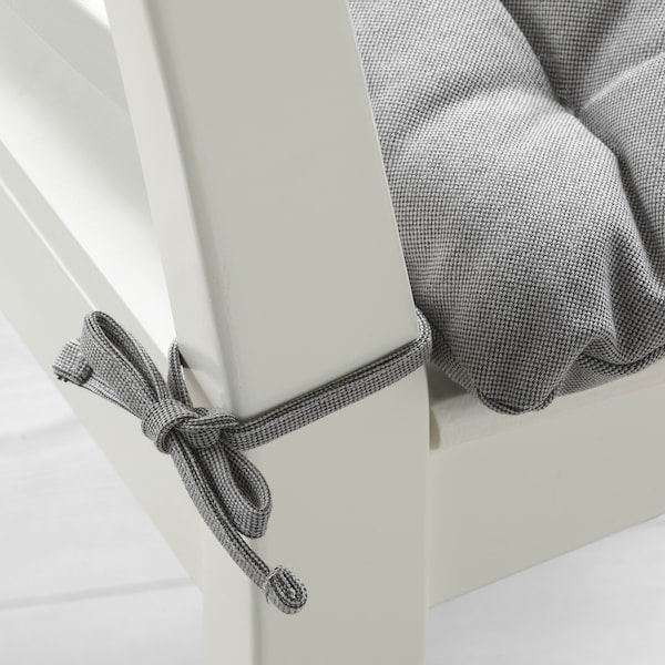 VIPPÄRT Chair cushion, grey, 38x38x6.5 cm