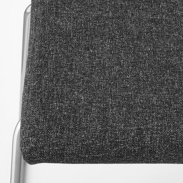 VOLFGANG stool chrome-plated/Gunnared dark grey 110 kg 53 cm 43 cm 85 cm 44 cm 38 cm 48 cm