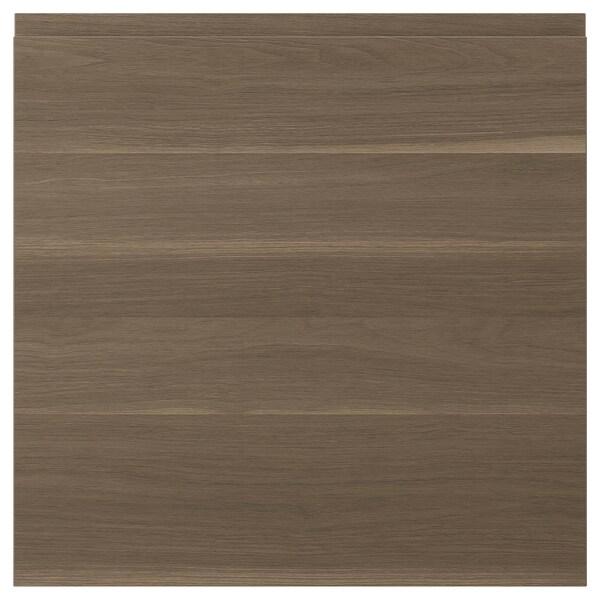 VOXTORP باب, شكل خشب الجوز, 60x60 سم