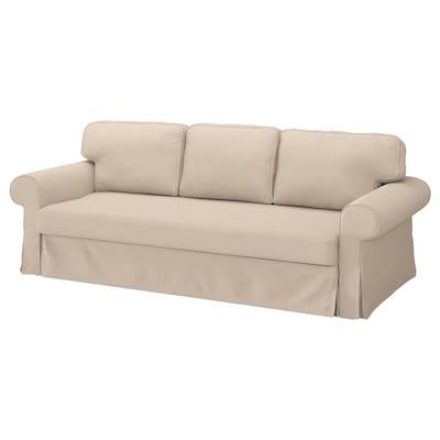 VRETSTORP Cover for 3-seat sofa-bed, Hallarp beige