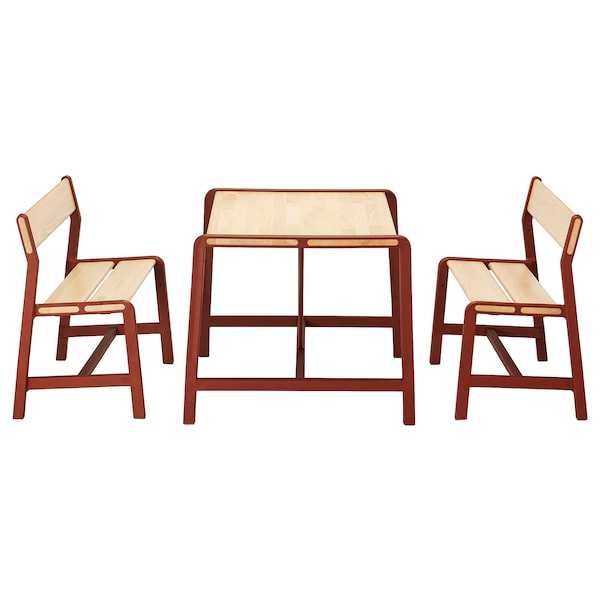 YPPERLIG Children's table with 2 benches