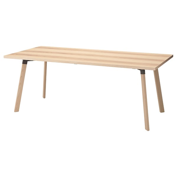 YPPERLIG Table, ash, 200x90 cm