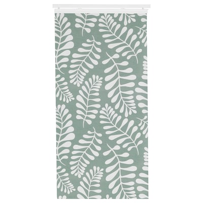 YRLA Panel curtain, green/white, 60x300 cm
