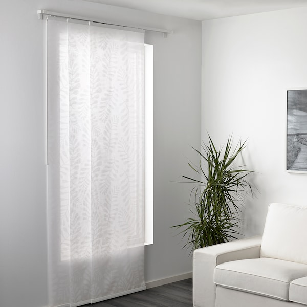 YRLA Panel curtain, white/white, 60x300 cm