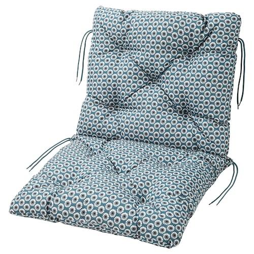 YTTERÖN seat/back cushion, outdoor blue 92 cm 50 cm 45 cm 47 cm 8 cm 1020 g 1415 g