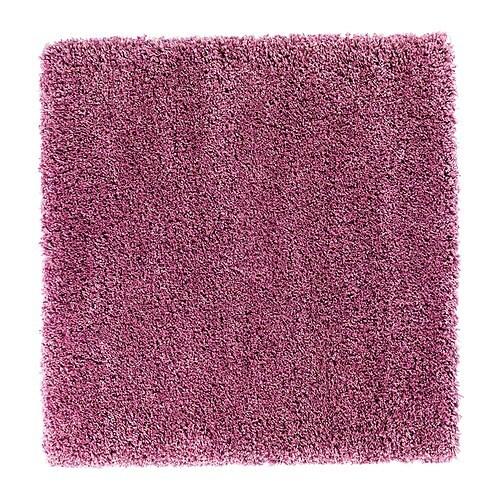 ABORG Matta, lång lugg rosa Längd: 100 cm Bredd: 100 cm Luggtäthet: 3300 g/m² Max. lugghöjd: 50 mm