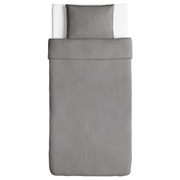 ÄNGSLILJA Påslakan 1 örngott, grå, 150x200/50x60 cm