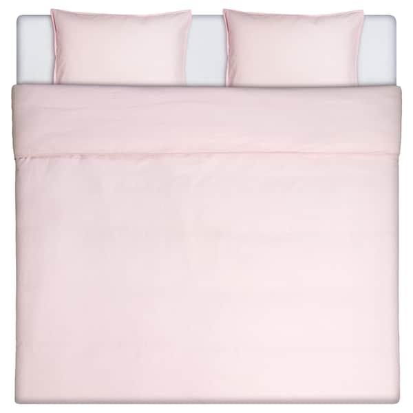 ÄNGSLILJA Påslakan 2 örngott, rosa, 240x220/50x60 cm