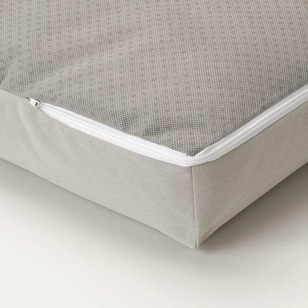 ÄPPLARÖ Modulhörnsoffa, 3-sits, utomhus, brunlaserad/Kuddarna grå, 143/223x80x80 cm