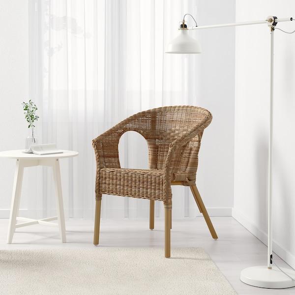 AGEN Fåtölj, rotting/bambu