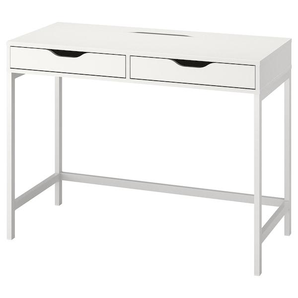 ALEX Skrivbord, vit, 100x48 cm