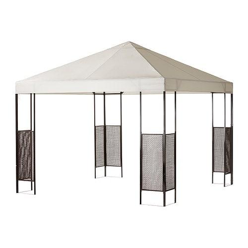 AMMERÖ Paviljong IKEA Textilen är vattenavvisande och den har ett utmärkt UV-skydd (min.  97,5 av UV-strålningen blockeras).
