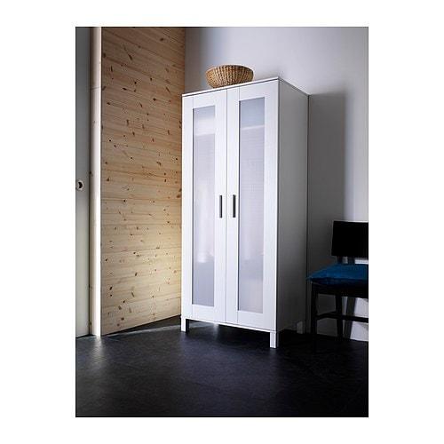 ANEBODA Klädskåp, vit Bredd: 81 cm Djup: 50 cm Höjd: 180 cm