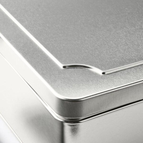 ANILINARE Låda med lock, set om 2, metall