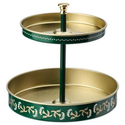 ANILINARE Skrivbordsställ, grön guldfärgad/metall, 12x11 cm