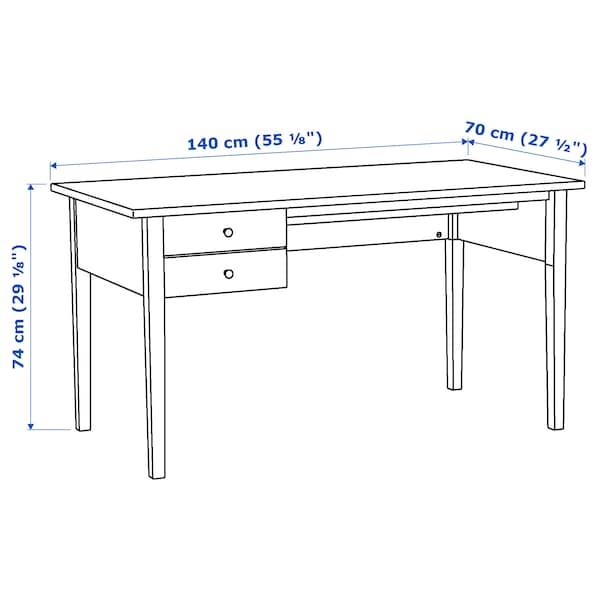ARKELSTORP Skrivbord, svart, 140x70 cm