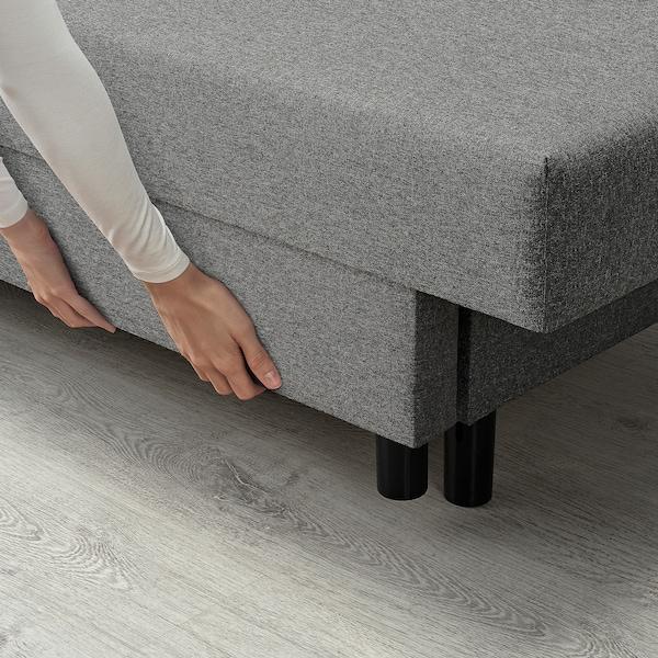 ASARUM 3-sits bäddsoffa, grå