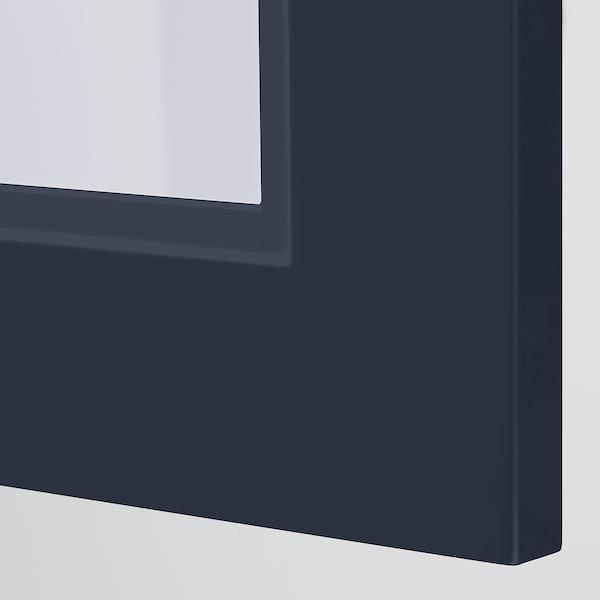 AXSTAD Vitrindörr, matt yta blå, 40x80 cm