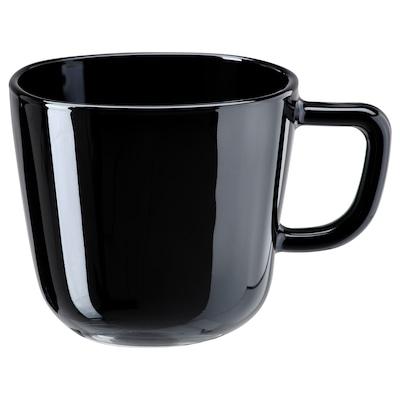 BACKIG Mugg, svart, 37 cl