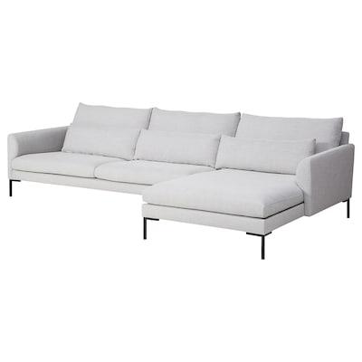 BARKTORP 4-sitssoffa med schäslong off-white/fyrkantigt svart 96 cm 76 cm 179 cm 328 cm 179 cm 144 cm 19 cm 19 cm 66 cm 98 cm 73 cm 44 cm
