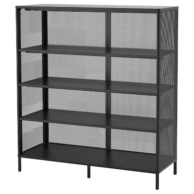 BEKANT Hylla, svart, 121x134 cm