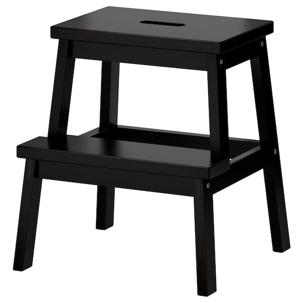 BEKVÄM Köksstege/pall, svart, 50 cm