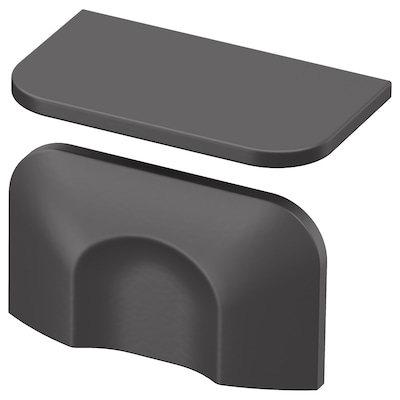 BERGHALLA Handtag, grå, 56 mm