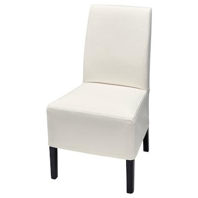 BERGMUND Halvlång klädsel för stol, Inseros vit