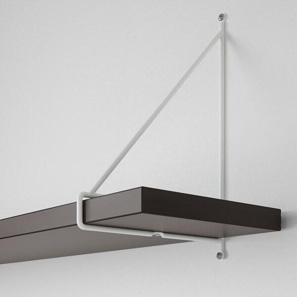 BERGSHULT / PERSHULT Vägghylla, brunsvart/vit, 120x20 cm