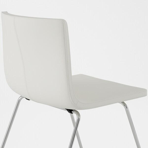 BERNHARD Stol, förkromad, Mjuk Kavat vit IKEA