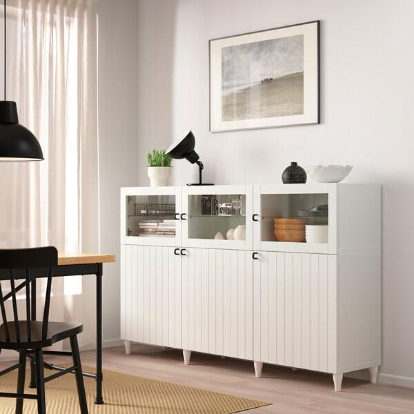 BESTÅ Förvaring med dörrar vitSuttervikenKabbarp vit
