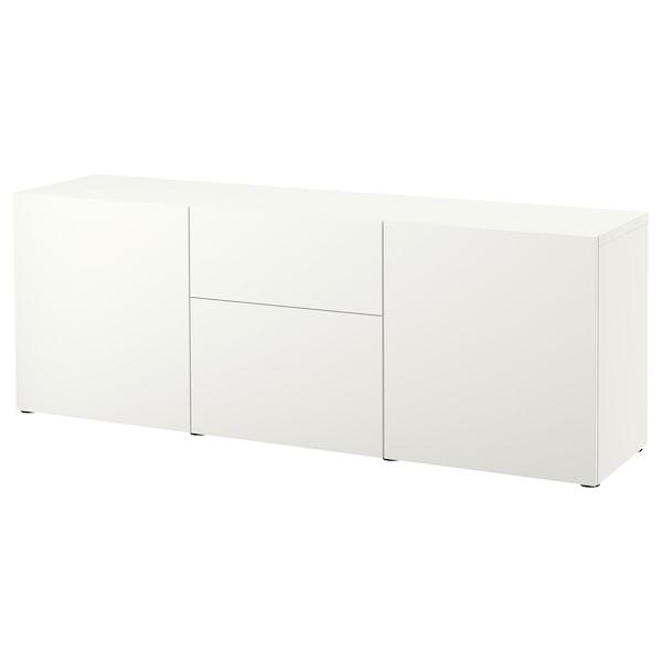 BESTÅ Förvaring med lådor, vit/Lappviken vit, 180x42x65 cm